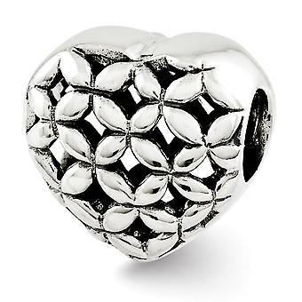 925 Sterling Silver Polerade reflektioner Älskar Hjärta Pärla Charm Hänge Halsband Smycken Gåvor för Kvinnor
