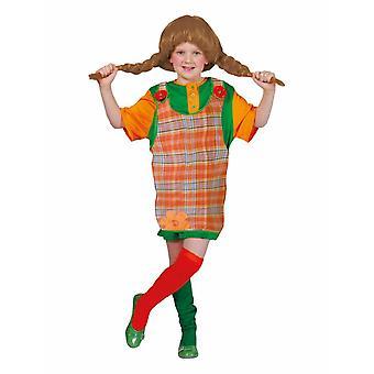 Freche Göre Longshirt orange grün Kinderkostüm Mädchen Karneval Kostüm Kinder Pipi Fasching