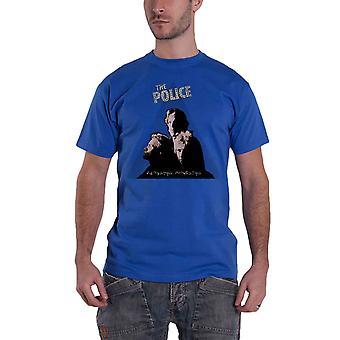 The Police T Shirt Zenyatta Album Cover Band Logo new Official Mens Blue
