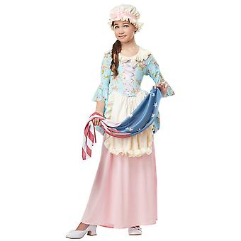 Colonial Lady Betsy Ross Martha Washington Olden Day Victorian Girls Costume