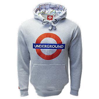 Tfl™129 licensed unisex underground™ embroidered hooded sweatshirt