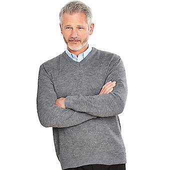 Chums Hombres V Cuello Jumper Fine Gauge Suéter