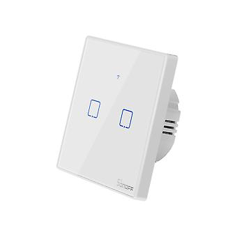 Sonoff TX T2-2 Smart dubbel WiFi + RF väggbrytare