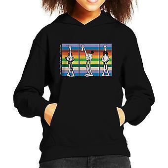 Krazy Kat Walter Rainbow Line Up Kid's Hooded Sweatshirt