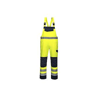 Portwest hi vis modaflame bib and brace mv27