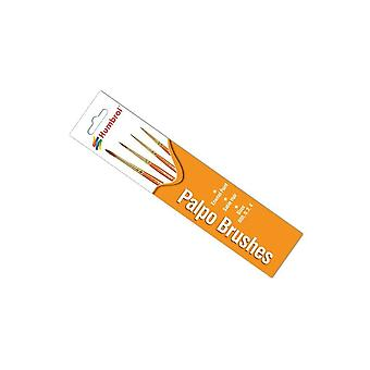 Humbrol Palpo 4 Brush Pack - Size 000/0/2/4  AG4250
