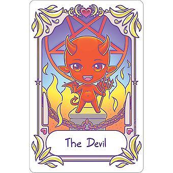 Deadly Tarot Kawaii The Devil Tin Sign