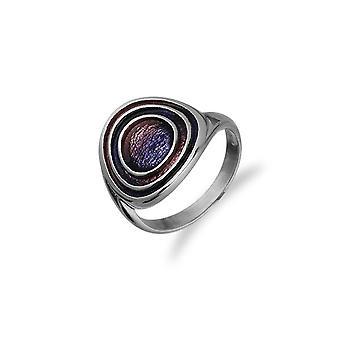 Sterling Silver traditionella skotska element emalj handgjord design ring