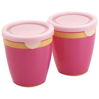 Playgro Pink Bowl Bowl with Cover of Day Indicators