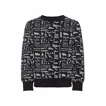 Name-It Zwarte Jongens Sweater Okke