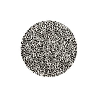 Paarse cupcakes 2mm parels-zilver-100g