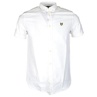 Lyle & Scott Plain Short Sleeve Oxford White Shirt