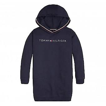 Tommy Hilfiger Girls Navy Logo Hoody Dress