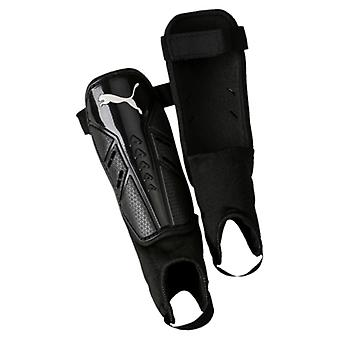 Puma Pro Training II Football Soccer Shinguard + Ankle Protection Black