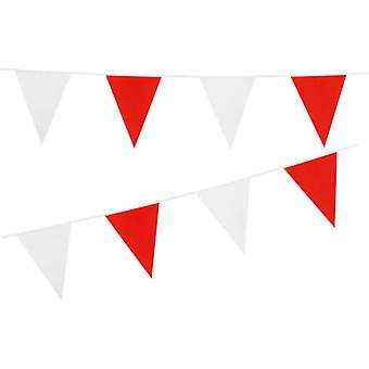 Flaggirlang | Vimpelgirlang | Pennant Red and White 10 meters