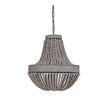 Könnyű és élő függő lámpa gyöngyök 51x63cm Luna Old White