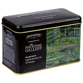 The national gallery monet tea tin with 40 english breakfast teabags