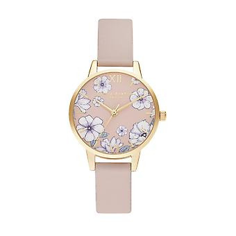Olivia Burton Watches Ob16an04 Groovy Blooms Vegan Candy Pink & Gold Ladies Watch