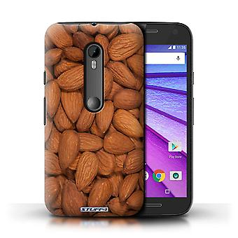 STUFF4 Case/Cover voor Motorola Moto G Turbo Edition/amandelen/Snacks