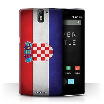 STUFF4 Case/Cover for OnePlus One/Croatia/Croatian/Flags