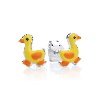 David Deyong Children's Sterling Silver Yellow Duck Stud Earrings