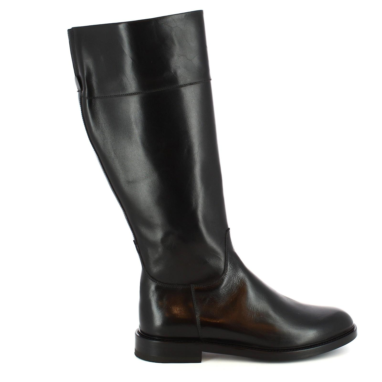 Chaussures Leonardo 5347black Women-apos;s Bottes En Cuir Noir