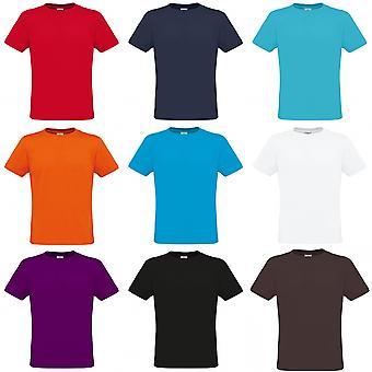 B & C Mens Crew hals kort erme t-skjorte
