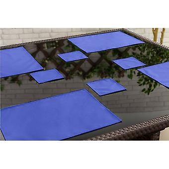 Gardenista Outdoor Dining Water Resistant Coaster Tableware, Pack of 6 Blue