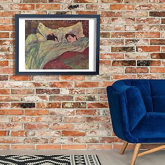 Henri Toulouse-Lautrec - im Bett Poster Print Giclee