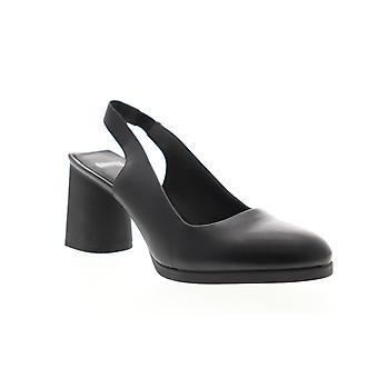Camper Lea  Womens Black Leather Heels Strap Pumps Shoes