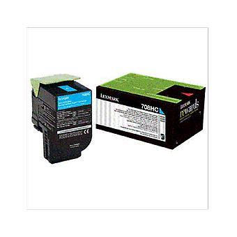 Lexmark 708Hce Cyan High Yield Corporate Toner Cartridge