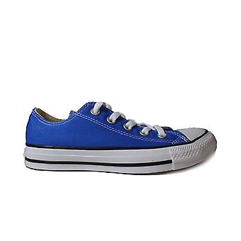 Converse Chuck Taylor All Star Ox 159545C Blue Adults Canvas Unisex Lace Up Casual Trainer Shoes