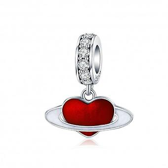 Sterling Silver Pendant Charm Love Planet - 6191