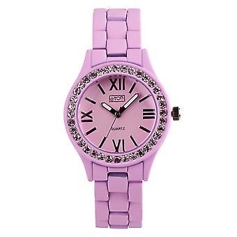 Eton Fashion Watch, Diamante Bezel, Lilac Rubber Touch Finish - 3166L-LC