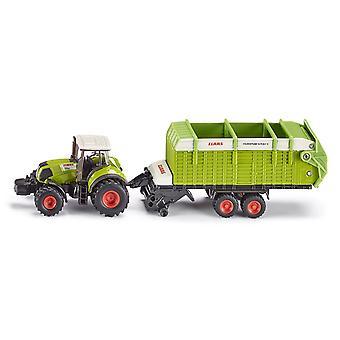 SIKU 1/87, tracteur Claas W/remorque