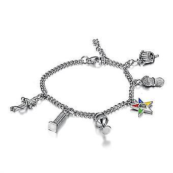 Elegante gioielli massonici charme bracciali caviglia ordine della stella orientale