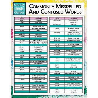 Commonly Misspelled And Confused Words  Speedy Study Guides by Publishing LLC & Speedy