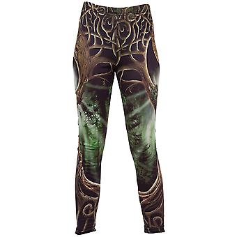 Spiral Direct Gothic OAK QUEEN - Allover Comfy Fit Leggings Black|Celtic|Yin Yang|Mystical|Forest