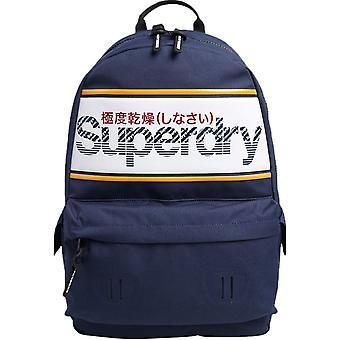 Superdry Stripe Logo Montana Mochila Saco Azul 91
