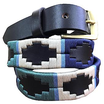 Carlos diaz kids unisex  brown leather  polo belt cdkpbhk83