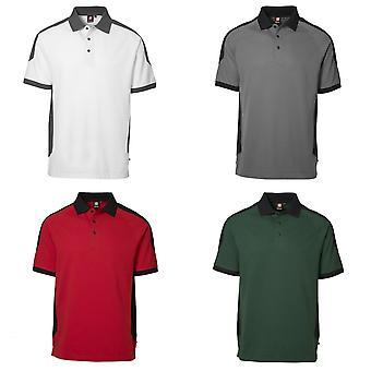 ID Mens Pro Wear Contrast Regular Fitting Short Sleeve Polo Shirt