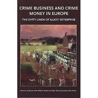 Dinheiro de negócios e cime de crime na Europa
