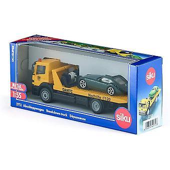 Siku 2712 Adac Breakdown Truck With Car 1:55