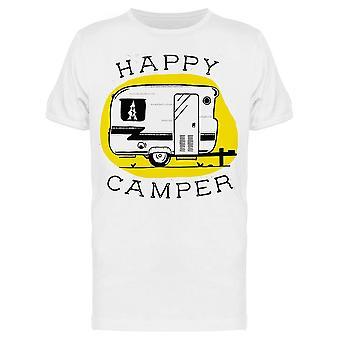 Happy Camper Phrase Tee Men's -Bild av Shutterstock