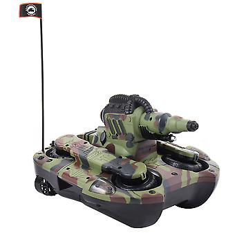 2.4G Remote Control Amphibious Tank Water Firing Cannon Tank Turns Into Boat