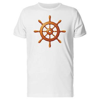 Ship Wooden Wheel Marine Tee Men's -Image by Shutterstock