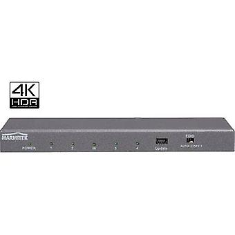 Marmitek Split 614 UHD 2.0 4 ports HDMI splitter 3D playback mode, Steel casing, Ultra HD compatibility, + built-in repeater 4096 x 2160 p Anthracite (metallic)