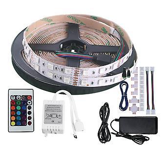 Jandei Kit RGB 5 MTS 5 LED Şerit 60 LED 5050 SMD Ara Bağlantı Şeridi İçin Daha Fazla Konektör