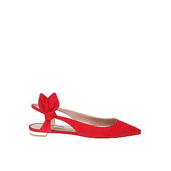 Aquazzura Drwflaa0suef00 Donne's Red Suede Flats