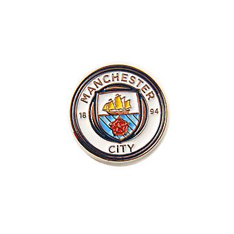 Manchester City FC Official Football Crest Pin Badge
